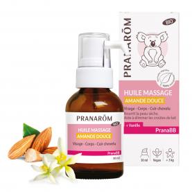 Huile massage - Amande douce - 30 ml | Pranarôm