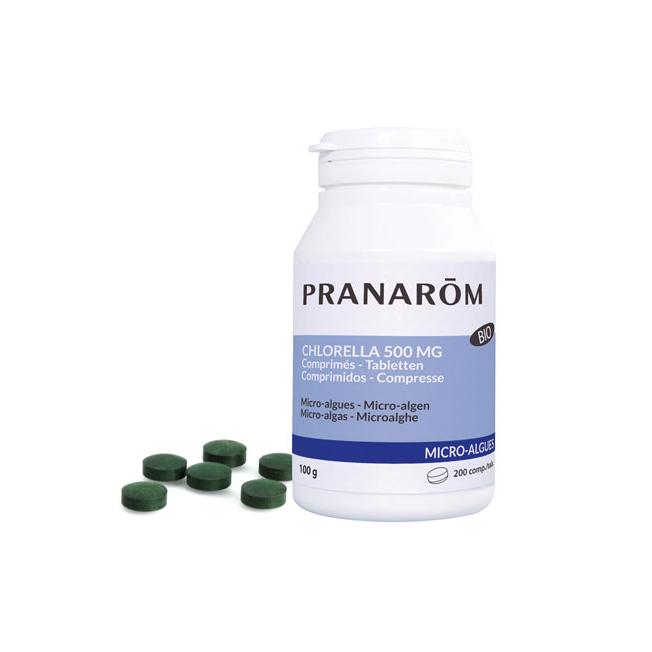 Chlorella 500 mg - 200 comprimés   Pranarôm