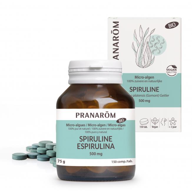 Spiruline - 150 tabletten | Pranarôm