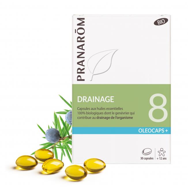 8 - Drainage - 30 capsules   Pranarôm
