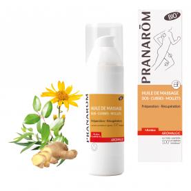 Huile de massage - Dos - cuisses - mollets - 100 ml | Pranarôm