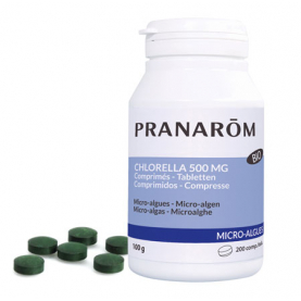 Chlorella 500 mg - 200 tabletten | Pranarôm