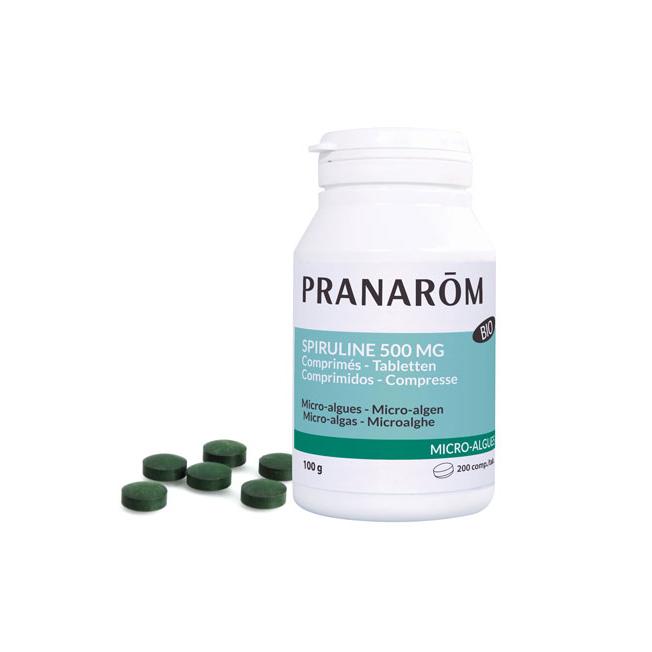 Spirulina 500 mg - 200 tabletten   Pranarôm